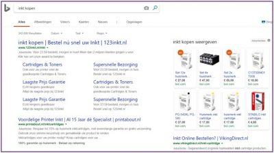 Google zoeksresultaten inkt kopen