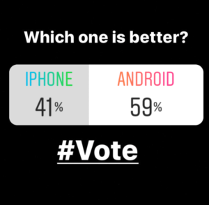 instagram stories poll - overtuigingstechnieken